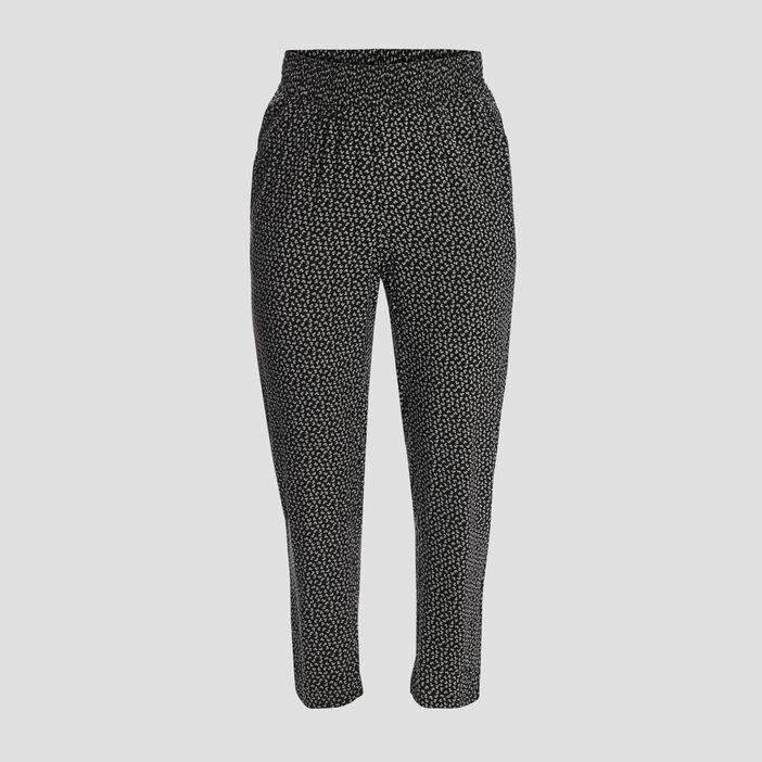 Pantalon droit fluide femme grande taille noir
