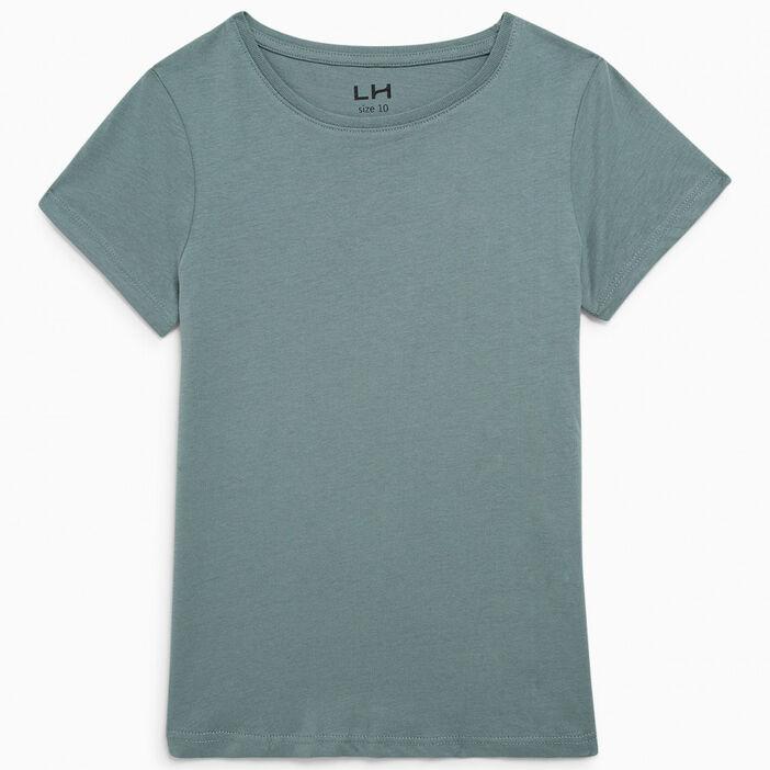 T-shirt uni en coton fille vert