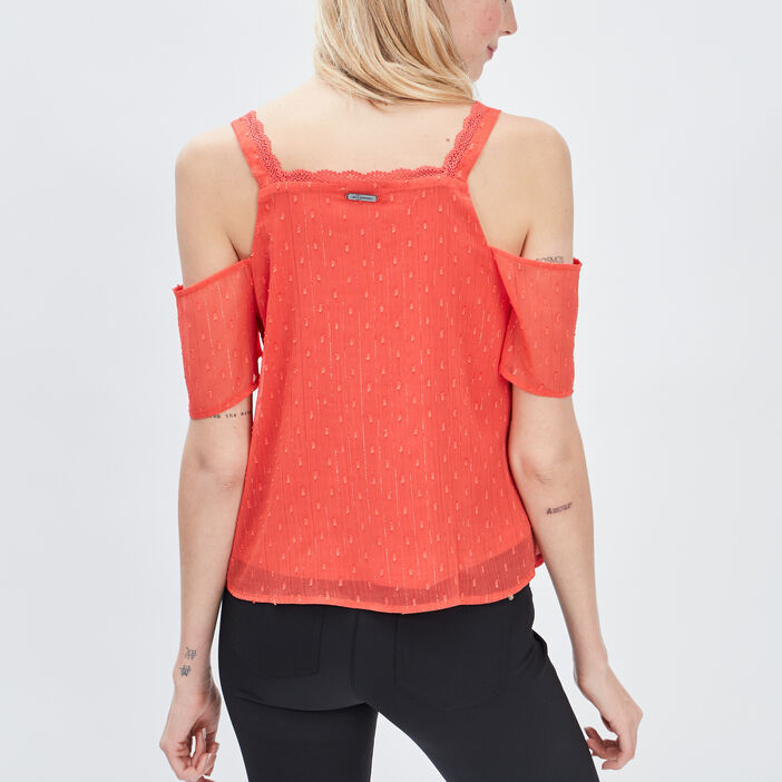 Blouse Mosquitos femme rouge