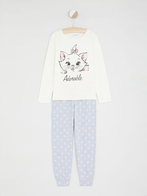 Pyjama long Aristochats ecru fille