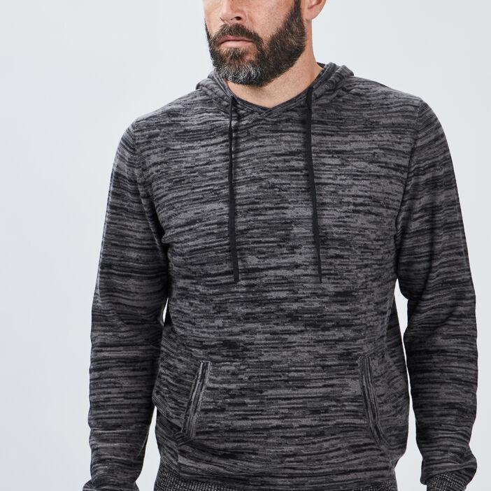 Sweat à capuche homme gris clair