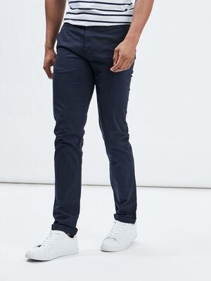 Pantalon straight bleu marine homme