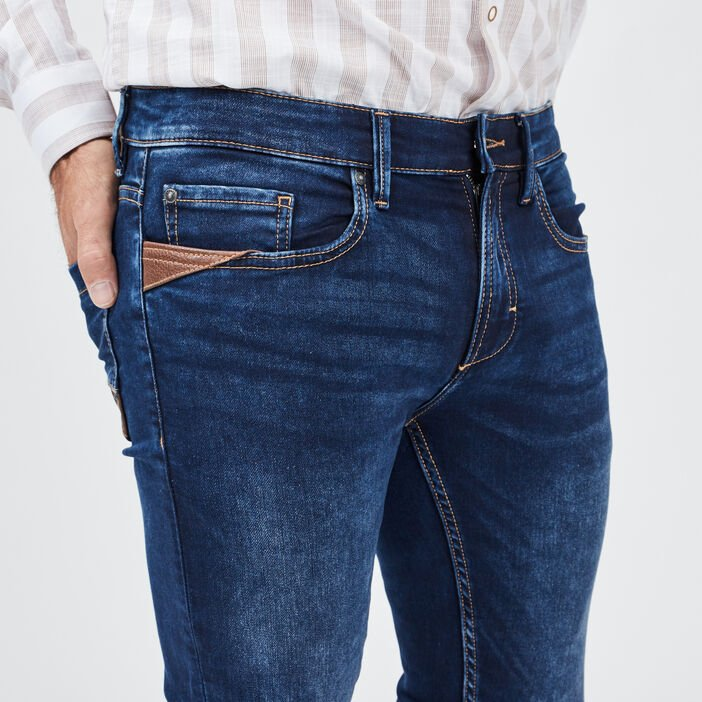 Jeans straight homme denim dirty