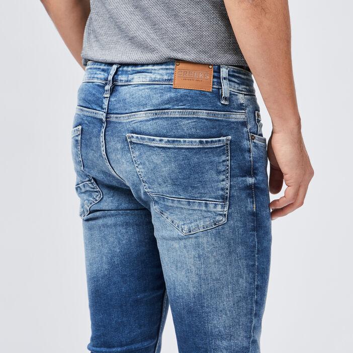 Jeans skinny Creeks homme denim bleach