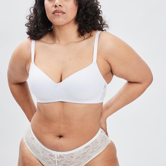 Soutien-gorge emboîtant femme blanc