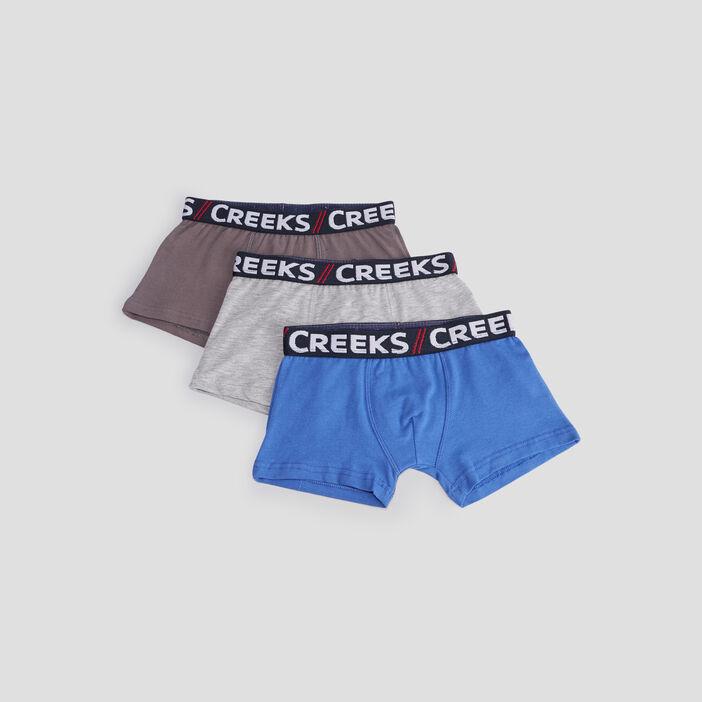 Lot 3 boxers Creeks garçon bleu