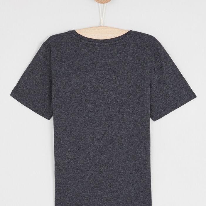 T-shirt chiné à manches courtes garçon gris foncã‰