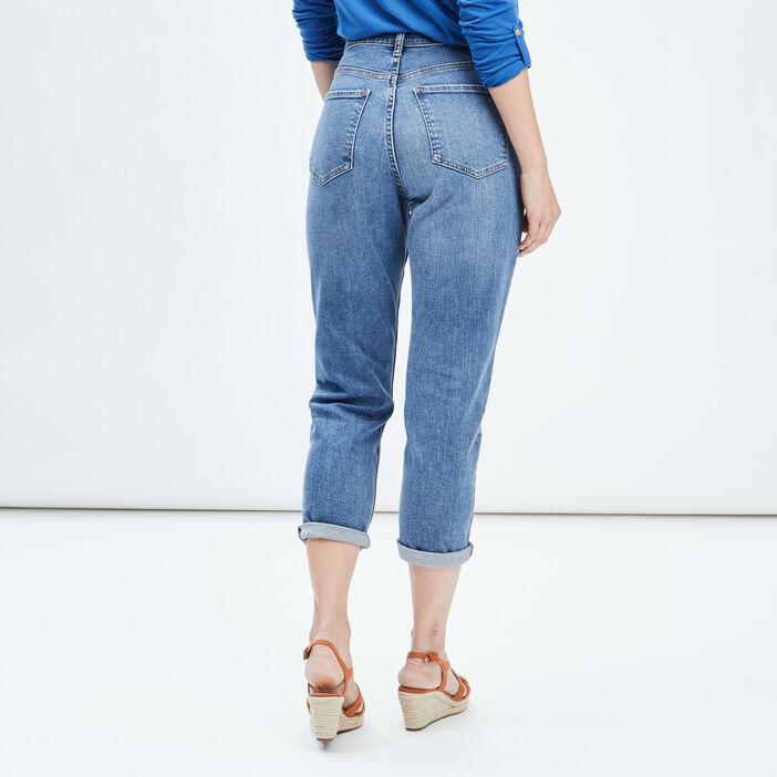 Jeans mom taille haute femme denim stone