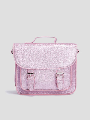 Sac besace a paillettes rose fille