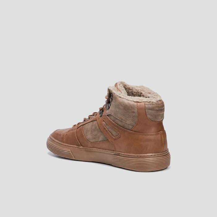 Baskets montantes Trappeur homme marron