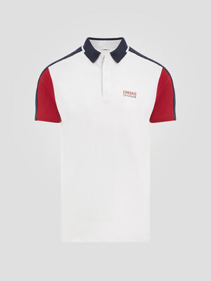 Polo manches courtes Creeks blanc homme