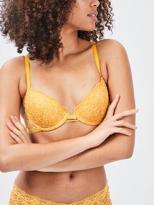 Soutien gorge ampliforme jaune moutarde femme