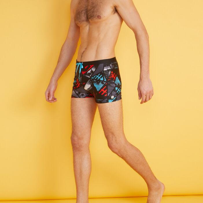 Short de bain imprimé Freegun homme noir