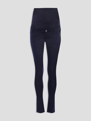 Pantalon slim grossesse bleu marine femme