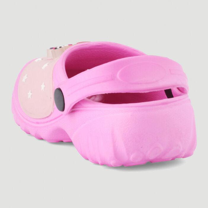 Sabots avec licorne 3D fille rose