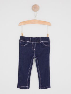 Jegging a poches denim brut fille