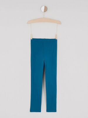 Legging coton majoritaire uni bleu canard fille