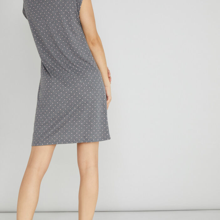 Chemise de nuit avec dentelle femme gris foncé
