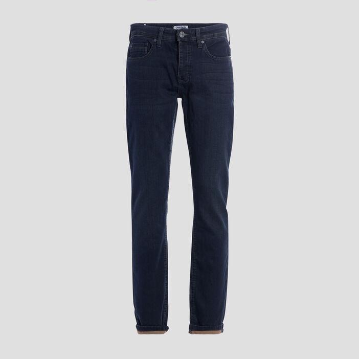Jeans straight Creeks homme denim blue black