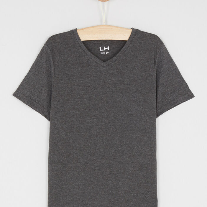 T-shirt manches courtes garçon gris foncé