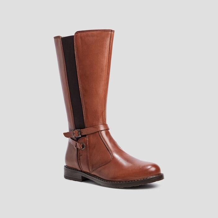 Bottes zippées fille marron