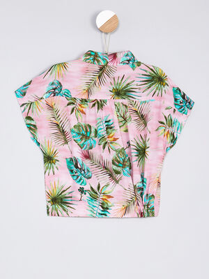 Chemise manches courtes multicolore fille