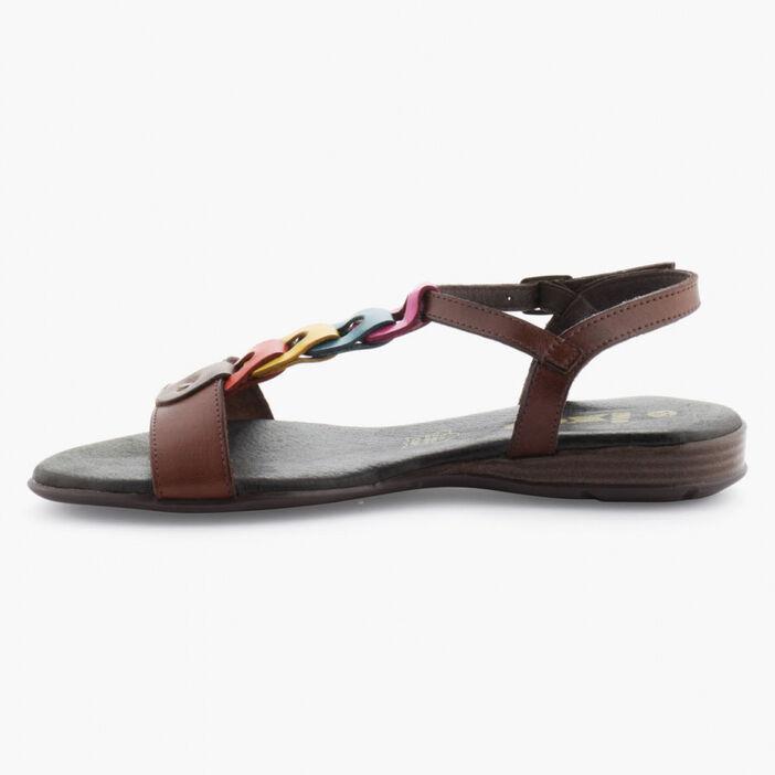 Sandale femme marron foncã‰