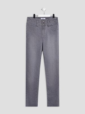 Jeans regular denim gris fille