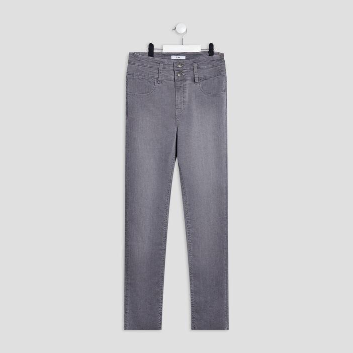 Jeans regular fille denim gris