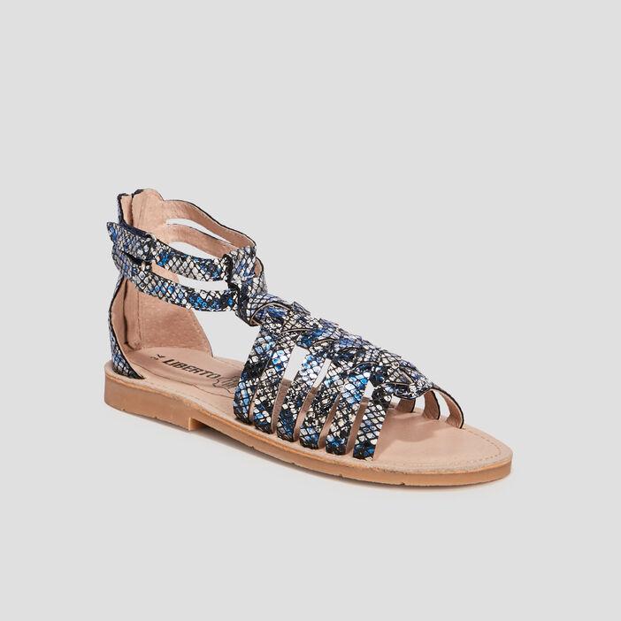 Sandales en cuir Liberto fille bleu