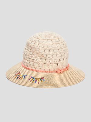 Chapeau details sequins beige femme