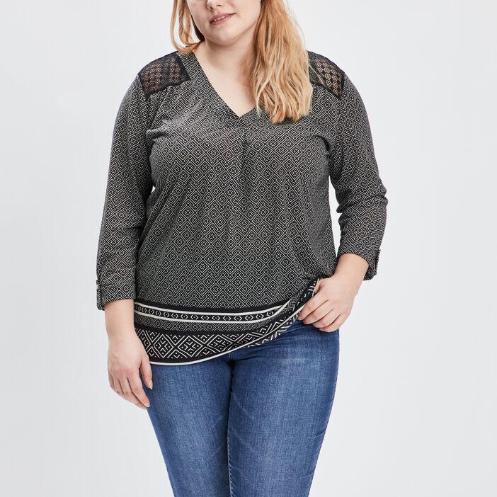 T-shirt grande taille femme noir