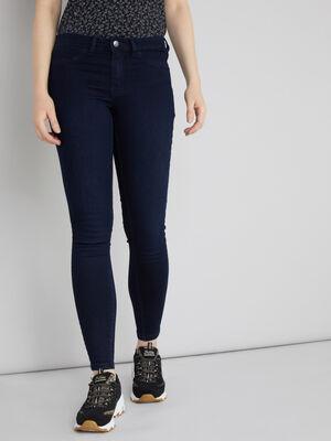 Jeans skinny taille basse denim blue black femme
