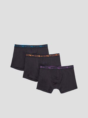 Lot 3 boxers DIM multicolore homme