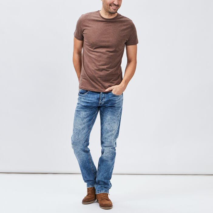 Jeans straight Creeks homme denim double stone