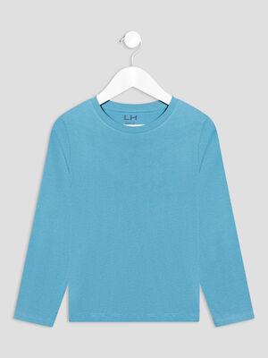 T shirt manches longues bleu garcon