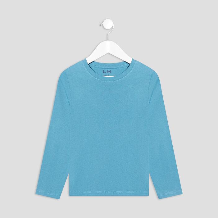 T-shirt manches longues garçon bleu