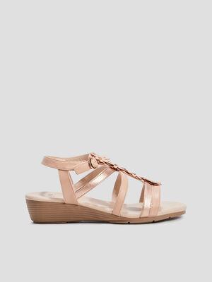 Sandales compensees rose femme