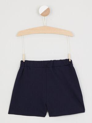 Bermuda short bleu marine fille