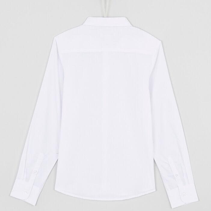 Chemise droite unie garçon blanc