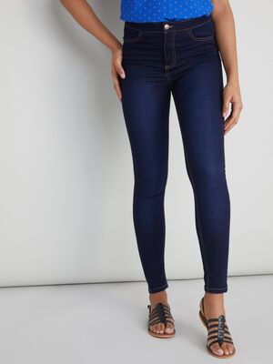 Jean skinny taille haute denim brut femme