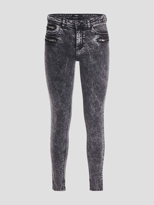 Jeans skinny delave denim snow gris femme