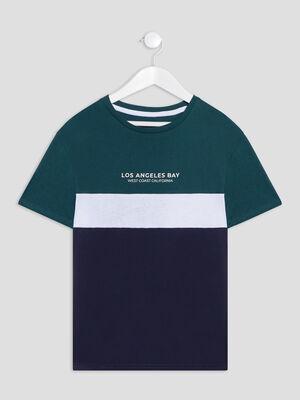 T shirt manches courtes vert garcon