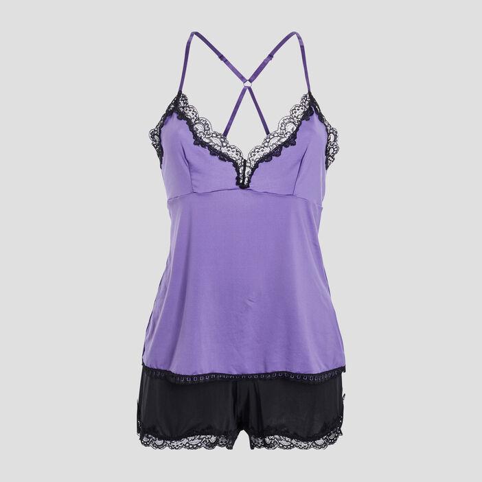 Ensemble pyjama 2 pièces femme violet