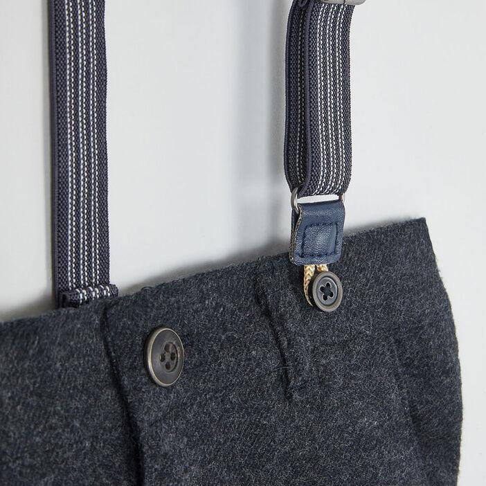 Pantalon et bretelles ajustables garçon gris foncé