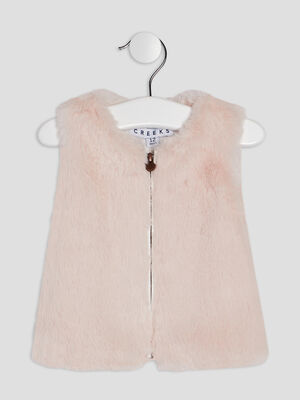 Gilet sans manches Creeks rose clair bebef