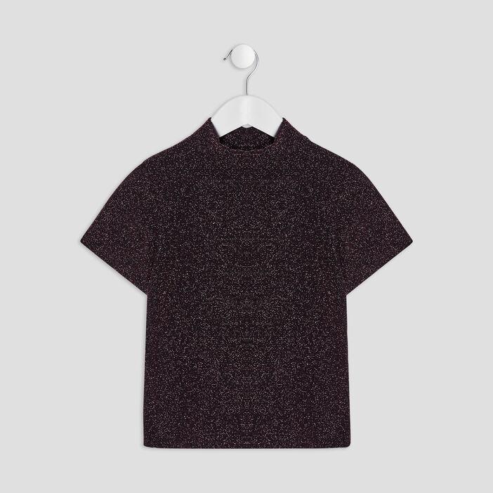 T-shirt manches courtes fille rose