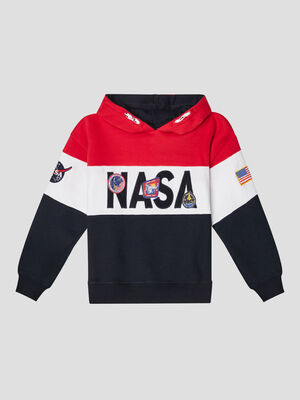 Sweat a capuche NASA multicolore garcon