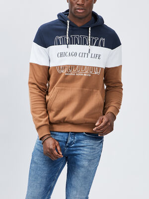 Sweat a capuche Creeks camel homme
