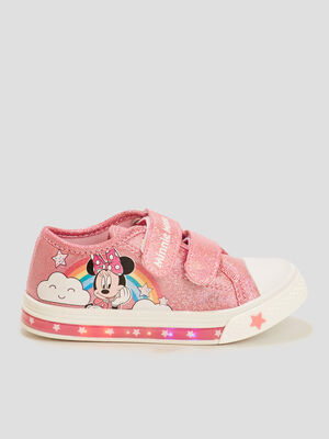 Tennis irisees Minnie rose fille